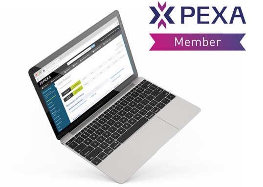 pexa member logo with laptop