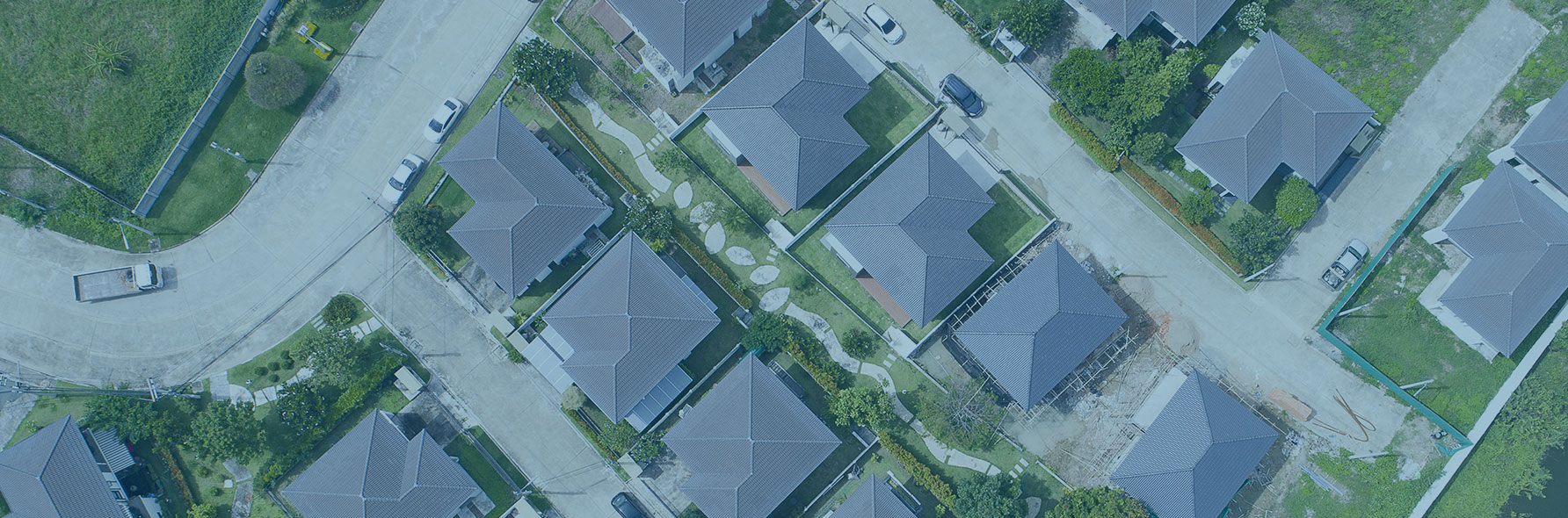 birds eye view of residential properties